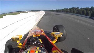 Ryan Hunter-Reay crash at Pocono Raceway