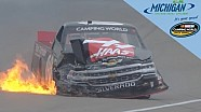 Cole Custer takes hard hit on track and in the points