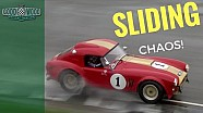 Heavy rain causes sliding chaos for E-Types and Cobras
