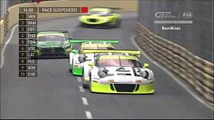 Le crash de Laurens Vanthoor (Audi) lors de la Coupe du monde GT de la FIA à Macao