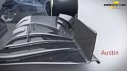 Giorgio Piola技术分析 - 迈凯伦车队前翼及尾翼变化