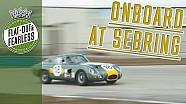 Onboard zeldzame Aston Martin op Sebring