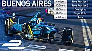 Этап Формулы Е в Буэнос-Айресе: квалификация и гонка