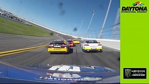 In-car: Multi-car pile-up at Daytona