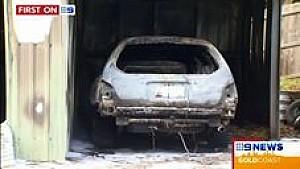 Fuego destruye el coche de Peter Brock Dakar