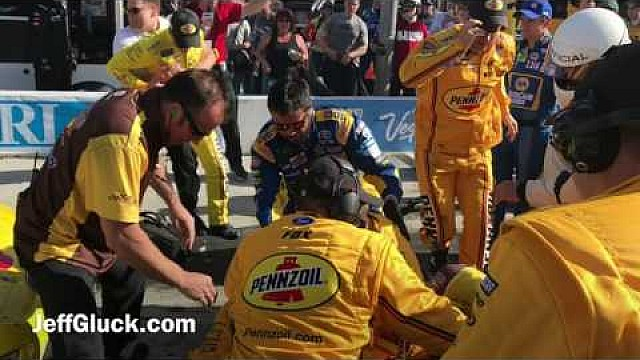 Joey Logano and Kyle Busch fight at Las Vegas