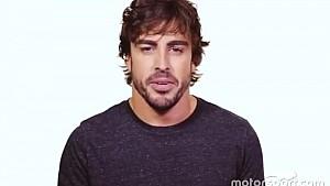 Fernando Alonso en la campaña de seguridad vial de la FIA, #3500LIVES