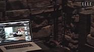 莱科宁家中拍摄ELLE杂志照片纪录