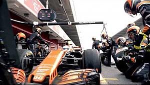 Le mannequin challenge pitstop de McLaren