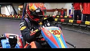 Shanghai: Max Verstappen im Kart