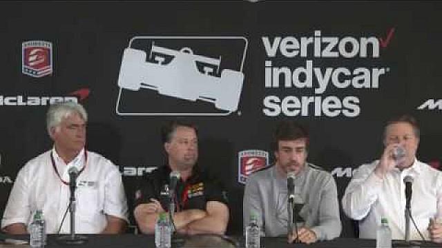 IndyCar Fernando Alonso press conference
