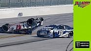 Büyük kaza sırasında Danica Patrick'in araç içi kamerası