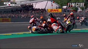 Moto 3 MEGA CRASH! - 2017 France Grand Prix - 10 MEN CRASH!!