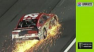 Sparks fly as Larson hits wall hard at Charlotte