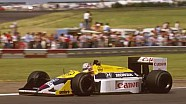 Nigel Mansell over de Williams FW11B