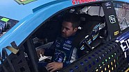 Ricky Stenhouse Jr. climbs in his No. 17 fifth third bank Ford at Michigan
