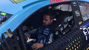 Ricky Stenhouse Jr. climbs in his No. 17 fifth third bank Ford at Michigan