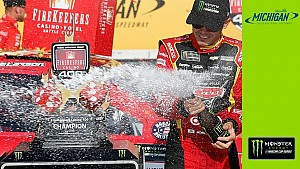 Truex Jr. wins the first two stages, Larson gets the win