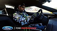 Ken Block drives the GT at Le Mans