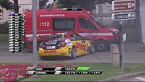 Tom Coronel percute un camion de pompiers à Vila Real