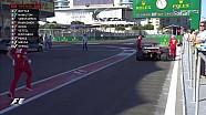 2017 Azerbaycan GP Sıralama - Ricciardo'nun Kırmızı Bayrak Sallanmasına  Neden Olduğu An