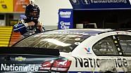 Dentro Dale Earnhardt Jr. en su última vuelta en Daytona