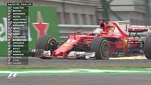 La crevaison de Vettel en fin de course à Silverstone