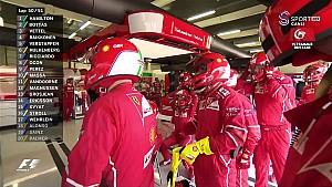 2017 Britanya GP - Vettel'in Lastik Patlattığı An