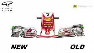 Ferrari front wing changes revisited - Austria (2D)