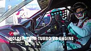 Craig Lowndes drives the Holden V6 Twin Turbo Supercar engine at full noise
