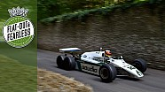 Wild F1 six-wheeler thrashes the hill at FOS