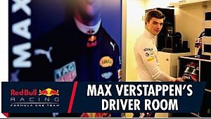Cuarto de Max Verstappen en la estación de energía de Red Bull
