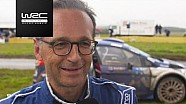 WRC - Rally Germany 2017: Co-drive Heiko Maas (Minister of Justice, Germany)