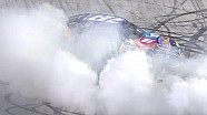 Kyle Busch celebrates Bristol sweep with major burnout