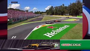 2017 İtalya GP -  Verstappen'in Grosjean'a atağı