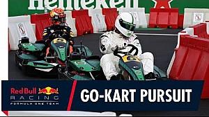 Kartwedstrijd: Max Verstappen vs voetballers in Monza