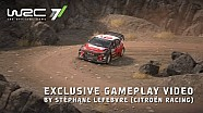 Stéphane Lefebvre pilote sa C3 WRC dans WRC 7