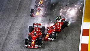 Exit both Ferraris...and Max