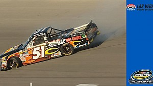 Playoff drivers escape damage in first-lap wreck at Las Vegas