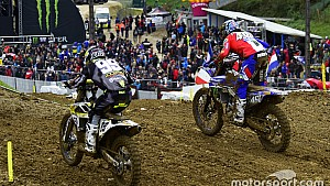 Lucha entre Max Anstie y Romain Febvre - Motocross of Nations 2017