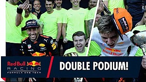 Double trouble! | The team celebrates double podium in Japan