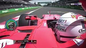 2017 Meksika GP - Vettel'in rekor derece ile elde ettiği pole turu