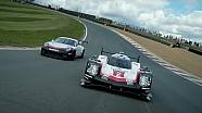 Les Porsche 919 Hybrid et 911 GT3 Cup en piste