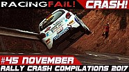 Rally crash compilation Week 45 November 2017 | Racingfail!