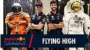 Verstappen y Ricciardo en la NASA