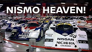 Go inside the Huge private Nissan Heritage museum!