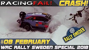 Rally Sweden 2018 special incl. crash compilation week 8 February
