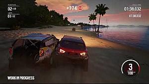 Gameplay de Gravel en una playa