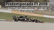 El resumen de los primeros test de F1 2018 en Barcelona LAT