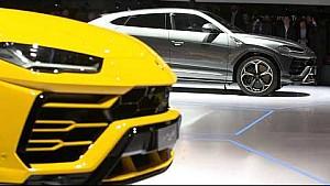Lamborghini press conference at the 2018 Geneva International Motor show